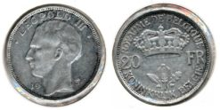 Belgie 1934 - 20 Frank Fr-Ned