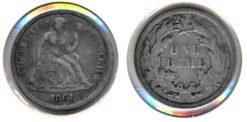 Verenigde Staten 1861 - 1 Dime