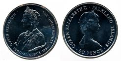 Falkland 1980 - 50 Pence Queen Mother
