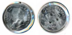 Frankrijk 1868 BB - 20 centimes