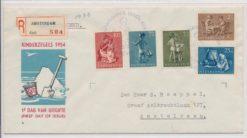 Nederland  1954 FDC Kind met getypt adres E19