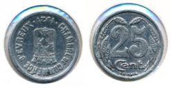 Frankrijk 1921 - 25 centimes Evreux