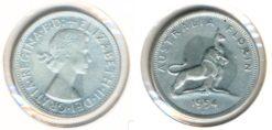Australie 1954 - 1 Florin Elisabeth