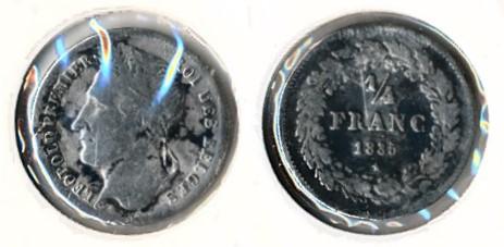 Belgie 1835 - Kwart Frank Leopold 1