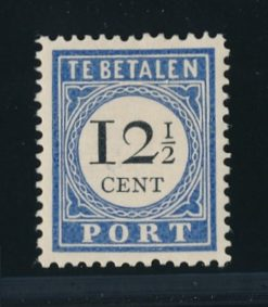 Nederland 1894-1910 Portzegel 12,5 cent Type 1 NVPH P23 postfris