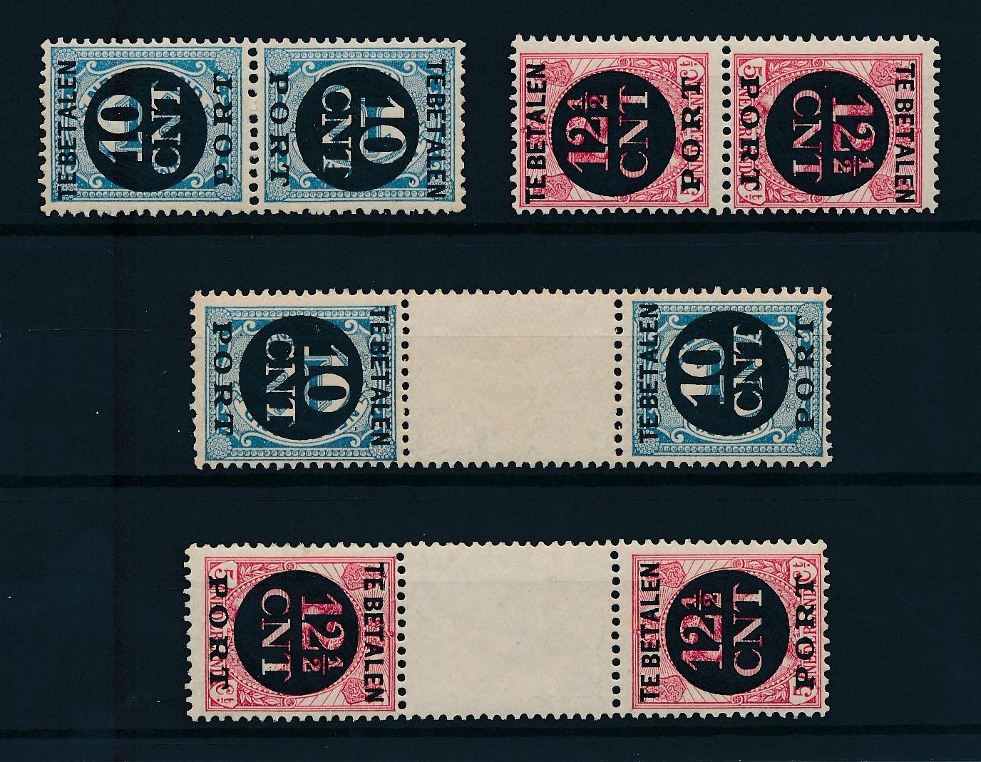 Nederland 1924 Portzegels Keerdrukken P67a-P68b postfris