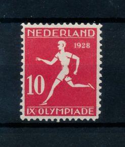 Nederland 1928 Olympiade Amsterdam 10 + 2 ct Lijntanding 12 x 11,5 NVPH 217A ongebruikt