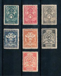 Nederland 1921 Brandkastzegels complete serie ongebruikt