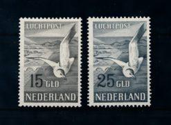 Nederland 1951 luchtpost Zeemeeuw NVPH LP12-LP13 ongebruikt