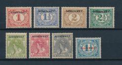 Nederland 1913 Dienstzegels opdruk ARMENWET NVPH D1-D8 postfris