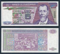 Guatemala 1983 5 Quetzales bankbiljet UNC Pick 67