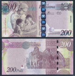 Botswana 2009 200 Pula bankbiljet UNC Pick 34a