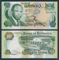 Botswana 2002 10 Pula bankbiljet UNC Pick 24a