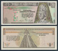 Guatemala 1989 0,50 Quetzal bankbiljet UNC Pick 72a