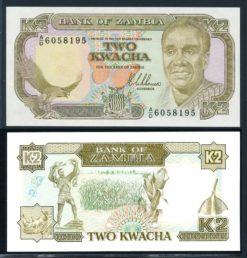 Zambia ND 1989 2 Kwacha bankbiljet UNC Pick 29