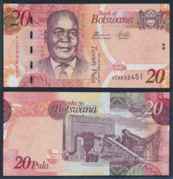 Botswana 2010 20 Pula bankbiljet UNC Pick 31b