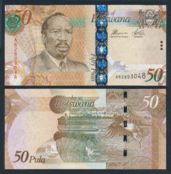 Botswana 2012 50 Pula bankbiljet UNC Pick 32b
