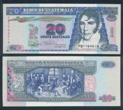 Guatemala 1992 20 Quetzales bankbiljet UNC Pick 76c