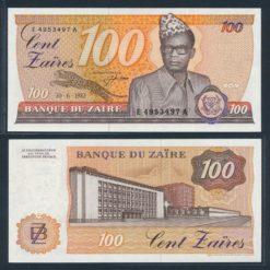 Zaire 1983 100 Zaires bankbiljet UNC Pick 29a