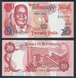 Botswana 1999 20 Pula bankbiljet UNC Pick 21a