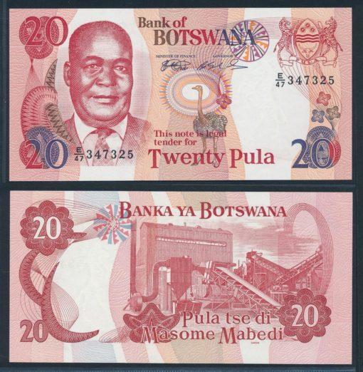 Botswana 1999 20 Pula bankbiljet UNC Pick 21a 1
