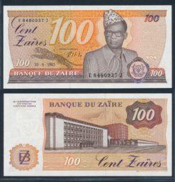 Zaire 1985 100 Zaires bankbiljet UNC Pick 29b