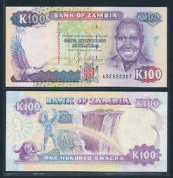 Zambia ND 1991 100 Kwacha bankbiljet UNC Pick 34