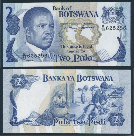 Botswana 1982 2 Pula bankbiljet UNC Pick 7c 1