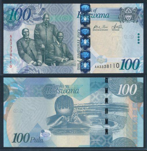 Botswana 2009 100 Pula bankbiljet UNC Pick 33a 1