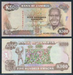 Zambia ND 1991 500 Kwacha bankbiljet UNC Pick 35
