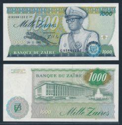 Zaire 1985 1000 Zaires bankbiljet UNC Pick 31