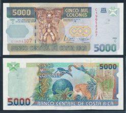 Costa Rica 1999 5000 Colones bankbiljet UNC Pick 268