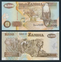 Zambia 1992 500 Kwacha bankbiljet UNC Pick 39b