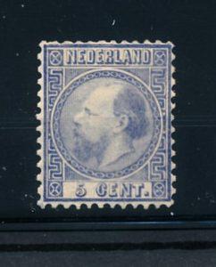Nederland 1867-1868 Koning Willem III - 5 cent blauw NVPH 7 II A ongebruikt