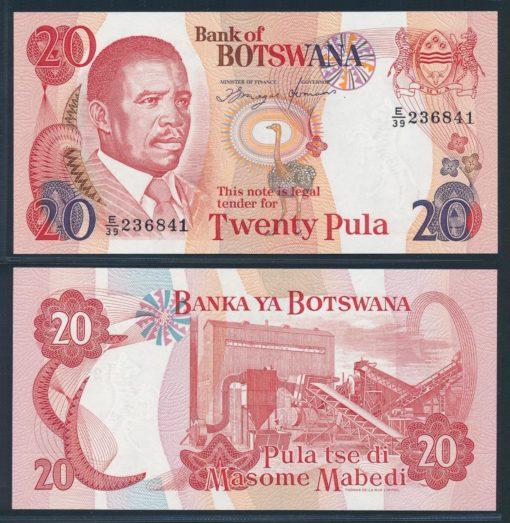 Botswana 1997 20 Pula bankbiljet UNC Pick 18 1