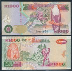 Zambia 1992 1000 Kwacha bankbiljet UNC Pick 40a