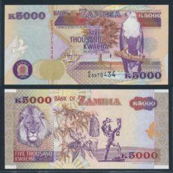 Zambia 1992 5000 Kwacha bankbiljet UNC Pick 41a