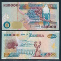 Zambia 1992 10.000 Kwacha bankbiljet UNC Pick 42a