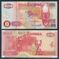Zambia 2001 50 Kwacha bankbiljet UNC Pick 37c