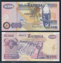 Zambia 2001 100 Kwacha bankbiljet UNC Pick 38c