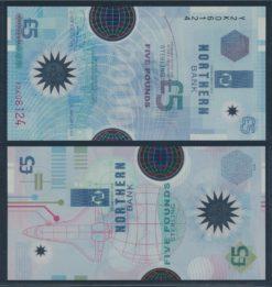 Noord Ierland 2000 5 Pounds bankbiljet UNC Polymer Pick 203b