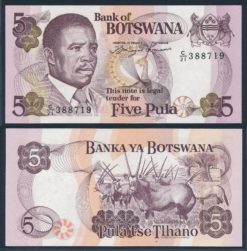 Botswana 1992 5 Pula bankbiljet UNC Pick 11a