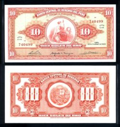 Peru 1965 10 Soles bankbiljet UNC Pick 88
