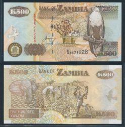 Zambia 2001 500 Kwacha bankbiljet UNC Pick 39c