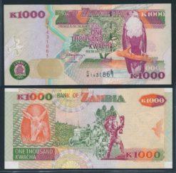 Zambia 2001 1000 Kwacha bankbiljet UNC Pick 40b
