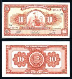 Peru 1967 100 Soles bankbiljet UNC Pick 84a