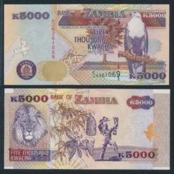 Zambia 2001 5000 Kwacha bankbiljet UNC Pick 41b