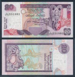 Sri Lanka 2004 20 Rupees bankbiljet UNC Pick 109C