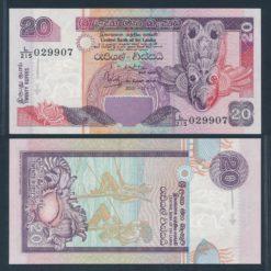 Sri Lanka 2001 20 Rupees bankbiljet UNC Pick 109b