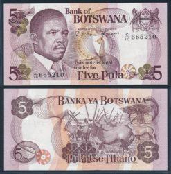 Botswana 1982 5 Pula bankbiljet UNC Pick 8c